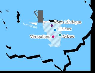 cartographie des centres hospitaliers du pays d'auges